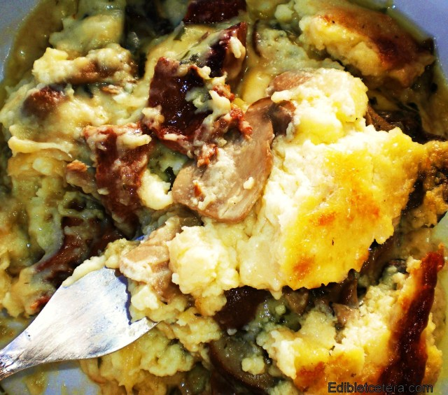 Mashed Potatoes with Porcini & Gruyere