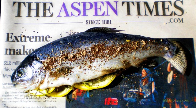 Uncooked trout, blog