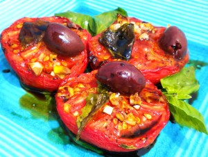 Oven-Roasted Tomato Salad.