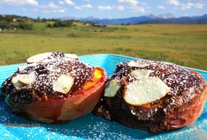 Chocolate-Pinenut-Amaretto Stuffed Peaches