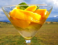 Mangoes in A Fresh Ginger-Mint Syrup