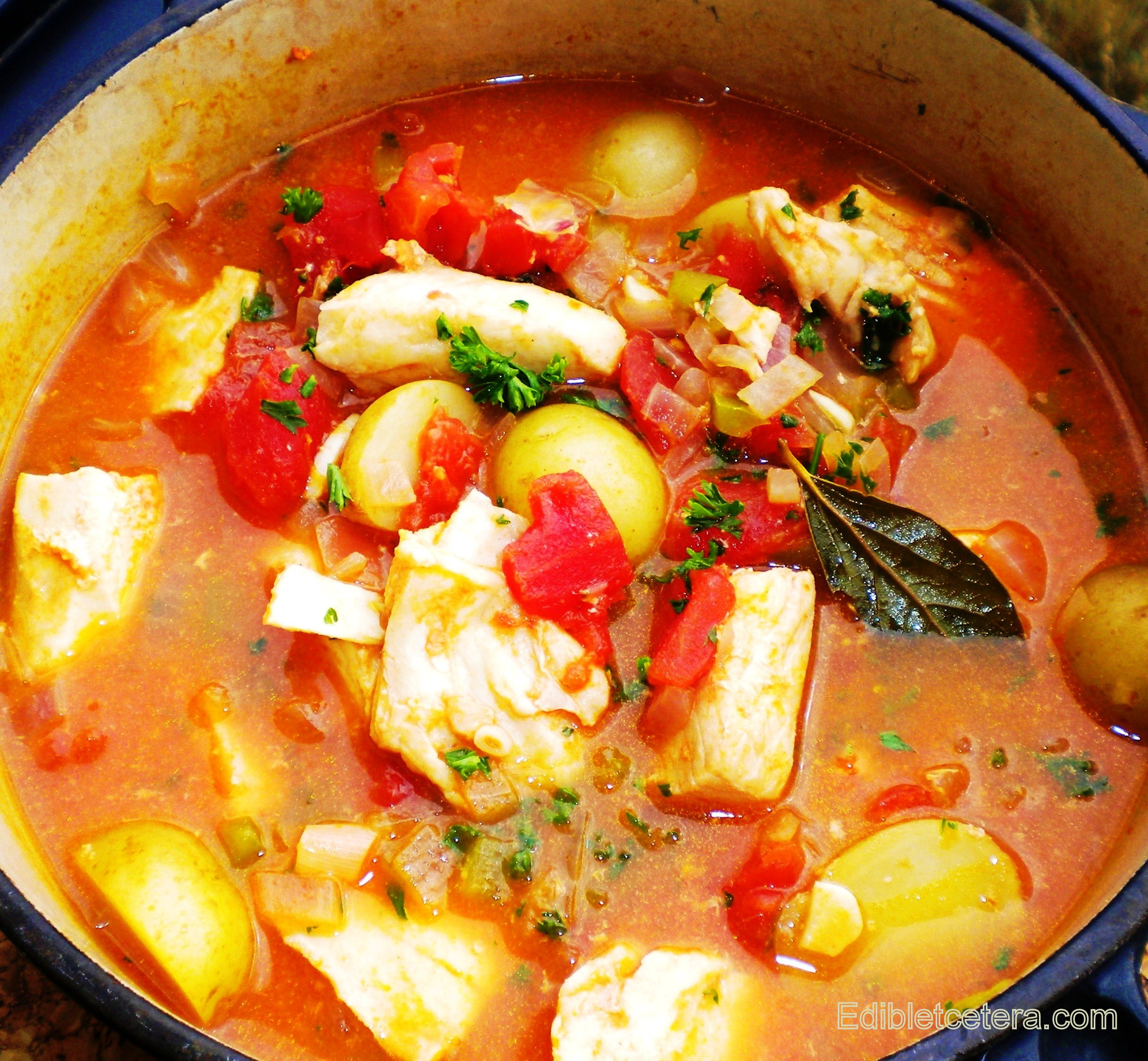 Recipe spicy fish stew with sherry baby potatoes for Fish stew with potatoes