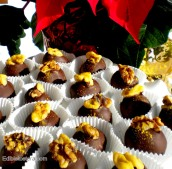 Chocolate Truffles with Prunes & Grand Marnier