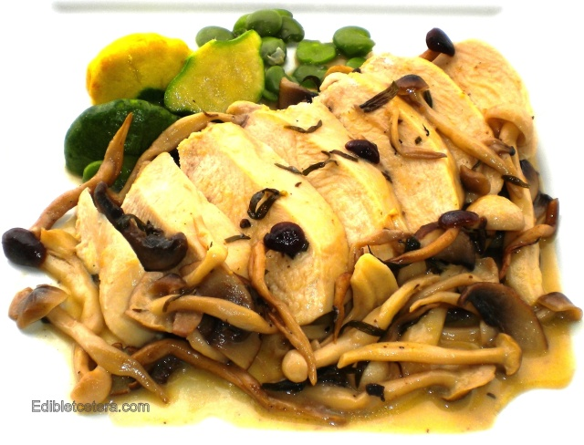 champagne tarragon  chicken with wild shrooms 003