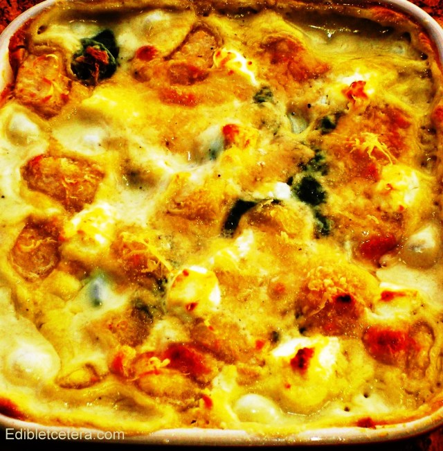 Baked Gnocchi with Spinach and Cheese