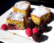 Polenta-Almond Cake with Berries.
