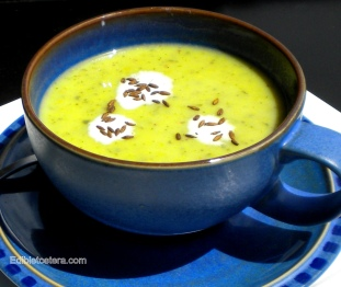 Indian Spiced Green Pea Soup.