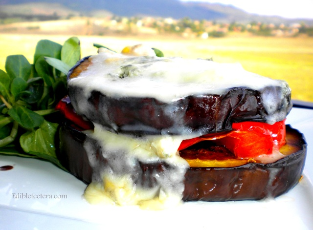 BLOG roasted eggplant and pepper with gorgonzola 010
