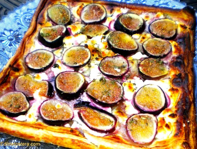 Fresh Fig & Goat Cheese Tart with Honey & Thyme