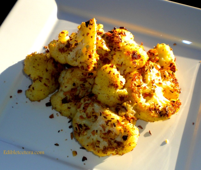 Roasted Cauliflower with Indian Spices