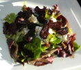 Salad of Figs & Stilton with a Warm Port Dressing.
