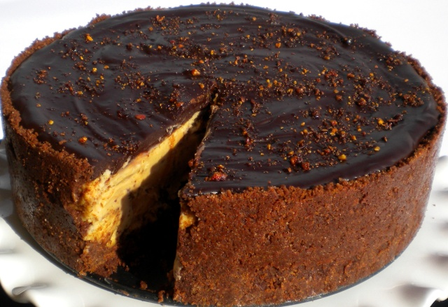 BLOG Choc peanut butter mousse cake 016
