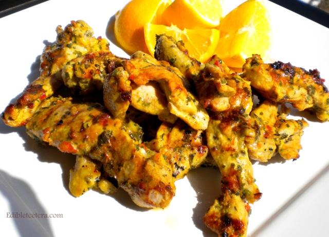 Grilled Chicken with Lemon, Chili, Mint & Saffron