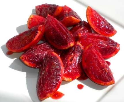 Grilled, Spiced Blood Oranges.
