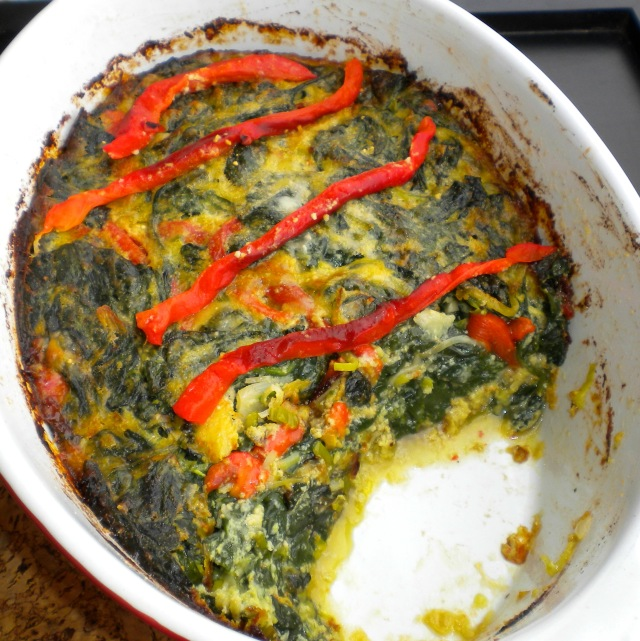 BLOG spinach, leek and pepper gratin 007