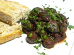 Mushrooms marinaded in Red Wine & Fennel seed