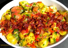 Warm Potato Salad with Bacon, Shallots & Sherry Vinegar