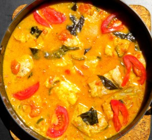 Kerala Fish Curry with Coconut Milk.