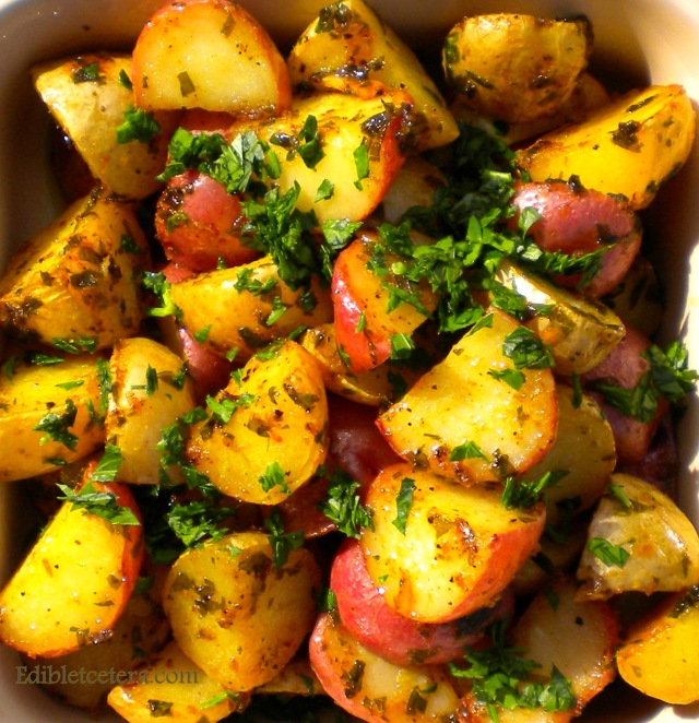Roast New Potatoes, Anchovies, Garlic & Parsley