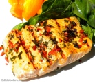 Grilled Salmon with Limes Leaves & Chili