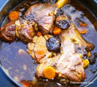 Braised Lamb Shanks with Cardamom & Prunes.