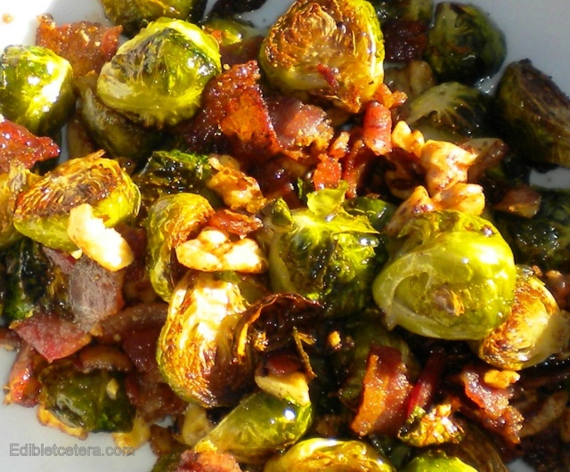 From J's Kitchen: Oven Roasted Brussels Sprouts with Bacon & Walnuts ...