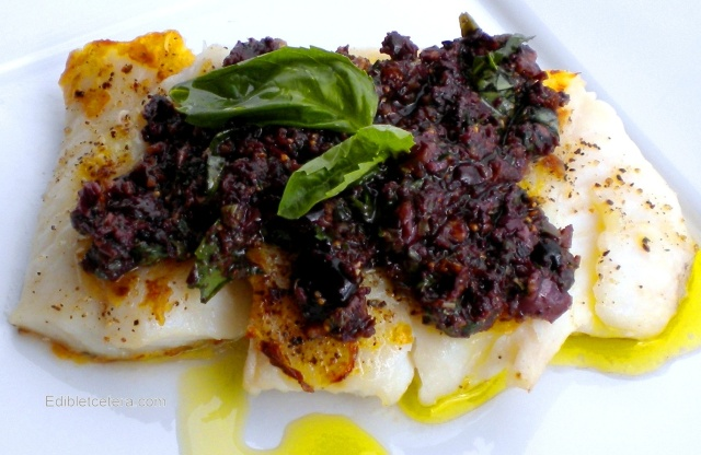BLOG Halibut with fig and olive tapenade 001