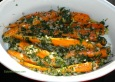 Carrots with Fresh Herbs, Shallots & Creme Fraiche.