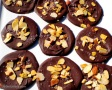 Chocolate Discs with Toasted Almonds & Himalayan Sea Salt.