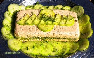 Fresh Salmon Terrine with Spinach & Dill.