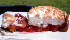 Rhubarb & Strawberry Meringue Pie.