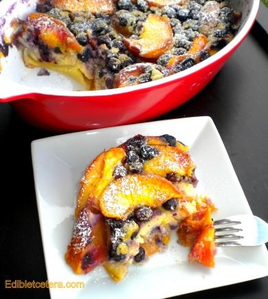 Peach & Blueberry 'Flaugnarde'