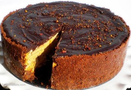 Chocolate Peanut Butter Mousse Cake.