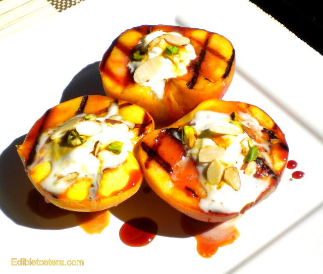 Grilled Peaches with a Balsamic Caramel Syrup