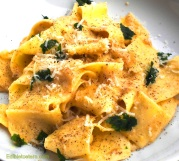 Pappardelle with a Walnut, Garlic & Parmesan Sauce