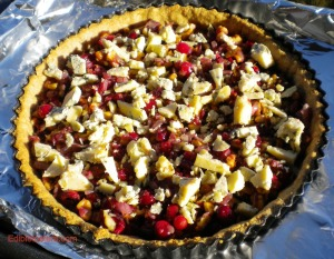 Cranberry, walnut, Stilton tart 005