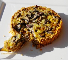 Stilton & Mushroom Tart with a Walnut Crust