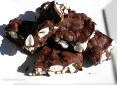 Dark Cocolate Rocky Road with Toasted Hazelnuts