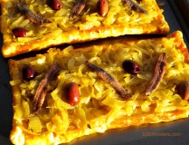 Pissaladiere - Caramelized Onion tart with Olives & Anchovies