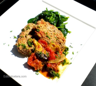 Meatloaf with Porcini, Basil & Tomatoes