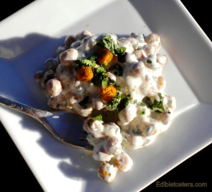 Oven Baked Chickpeas with Yogurt & Indian Spices