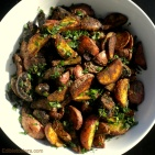 Roast Potatoes & Mushrooms with Porcini