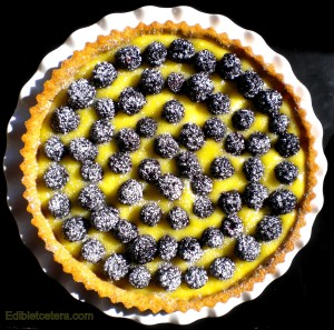 Blackberry Lemon Curd Tart