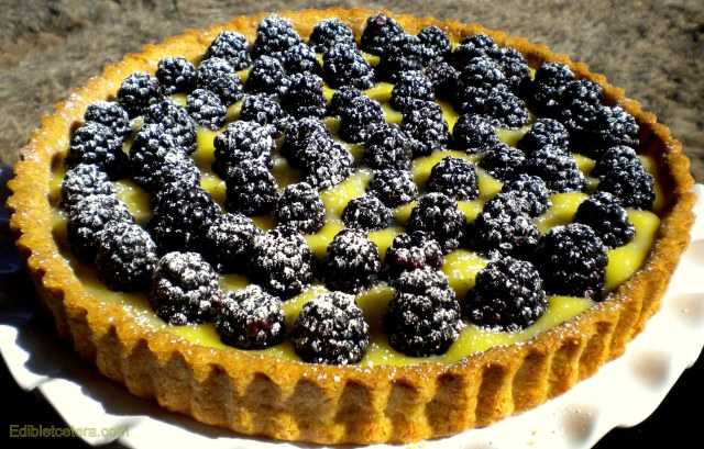 Blackberry & Lemon Curd Tart