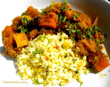 Tagine of Vegetables & Dried Fruit with Preserved Lemon Cous-Cous