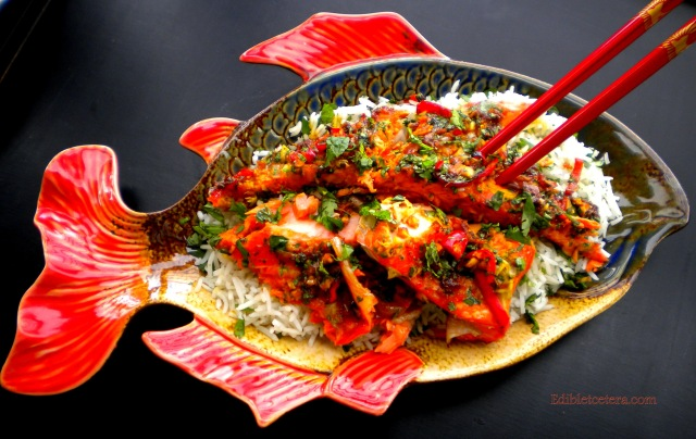 Roast Salmon with Asian Spices