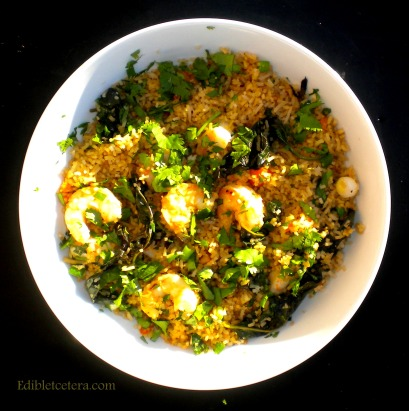 Shrimp Basil Fried Rice with Garlic & Chili