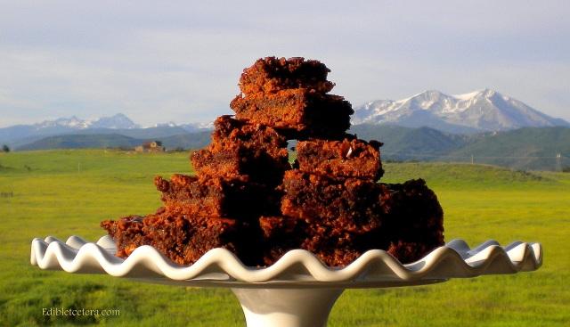 Gluten-Free Chocolate Almond Caramel Fudge Brownies