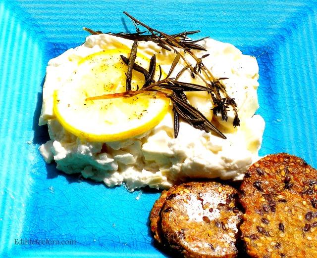 Baked Feta with Lemon, Herbs & Garlic