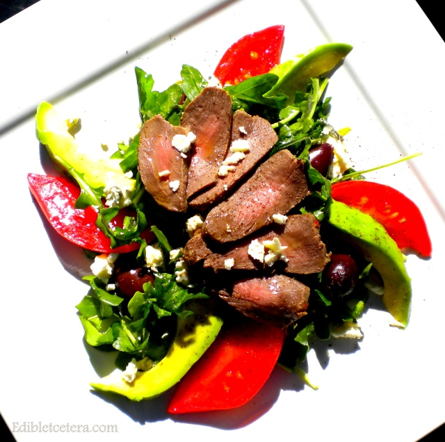 Elk Tenderloin & Stilton Salad